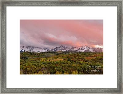 Sunset On The Dallas Divide Ridgway Colorado Framed Print