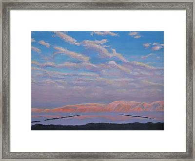 Sunset On The Dead Sea In Israel Framed Print
