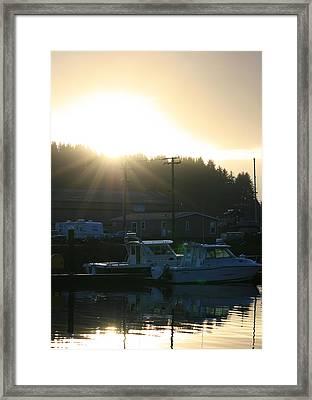 Sunset On The Docks Framed Print by Joshua Sunday