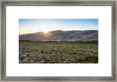 Framed Print featuring the photograph Sunset On The Dunes by Monte Stevens