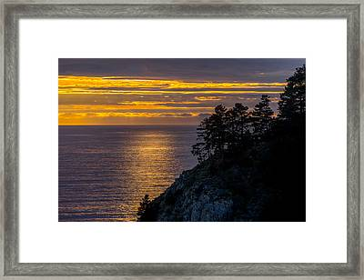 Sunset On The Edge Framed Print