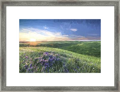 Sunset On The Farm II Framed Print