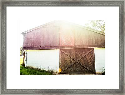 Sunset On The Farm Framed Print by Shelby  Young