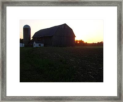 Sunset On The Farm Framed Print by Todd Zabel