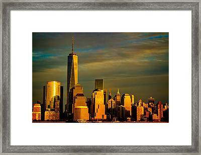 Sunset On The Financial District Framed Print