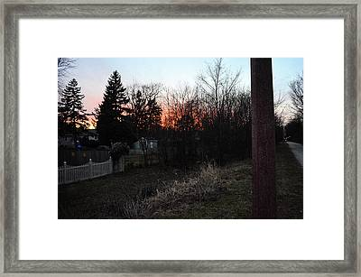 Framed Print featuring the relief Sunset On The Great Western Trail by Jeanette O'Toole