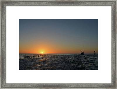 Sunset On The Gulf Framed Print