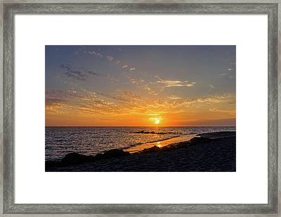 Sunset On The Gulf Coast Of Florida  -  Caspbch592 Framed Print