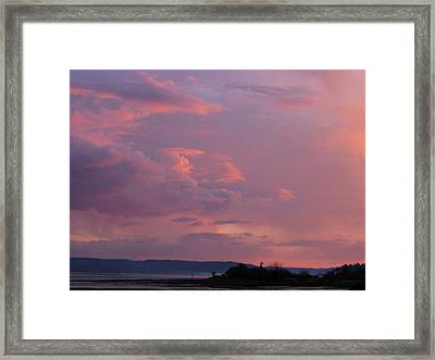 Sunset On The Hood Canal Framed Print