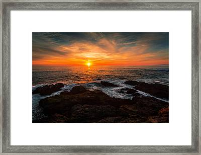 Sunset On The Horizon Framed Print