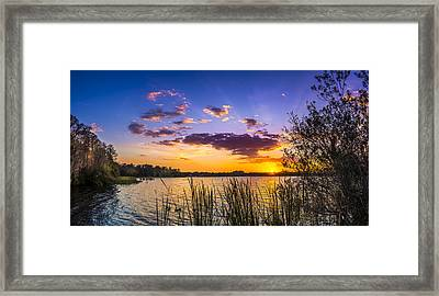 Sunset On The Lake Framed Print by Marvin Spates