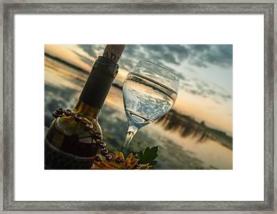 Sunset On The Lake Framed Print by Pamela Williams