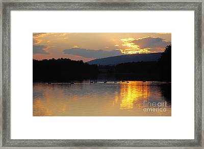 Framed Print featuring the photograph Sunset On The Lake by Vilas Malankar
