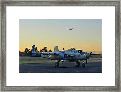 Sunset On The Maid In The Shade. Framed Print