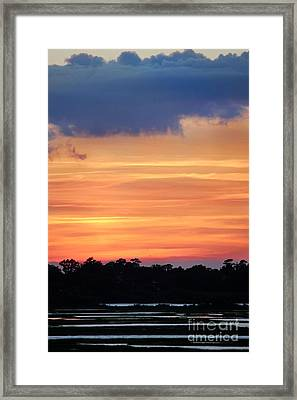 Sunset On The Marsh Framed Print