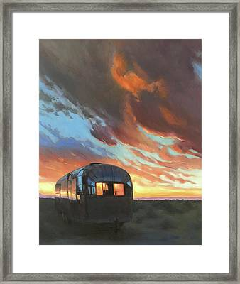 Sunset On The Mesa Framed Print