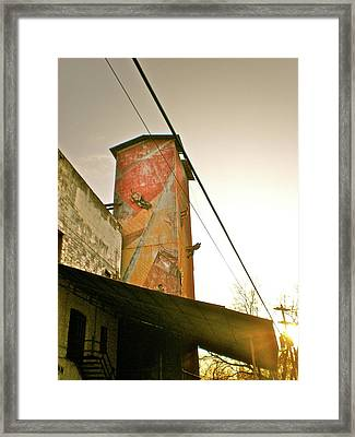 Sunset On The Mill Framed Print by Sheep McTavish