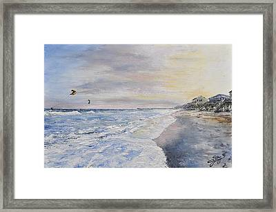 Sunset On The North Carolina Coast Framed Print by Spencer Yancey