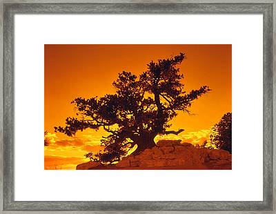 Sunset On The North Rim Framed Print by John Foote