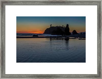 Sunset On The Oregon Coast Framed Print