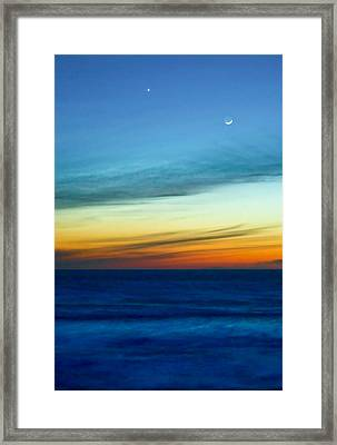 Sunset On The Pacific Framed Print
