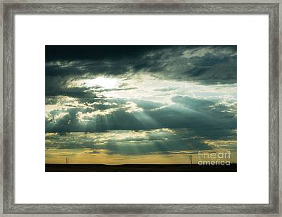 Sunset On The Plains Framed Print by MaryJane Armstrong