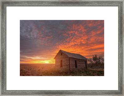Framed Print featuring the photograph Sunset On The Prairie  by Darren White