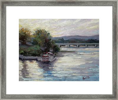 Sunset On The Pride Framed Print by Kathy Busillo