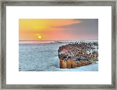 Sunset On The Rachel Framed Print by JC Findley
