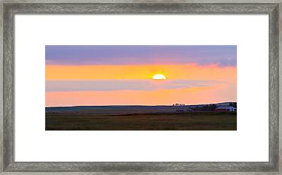 Sunset On The Reservation Framed Print