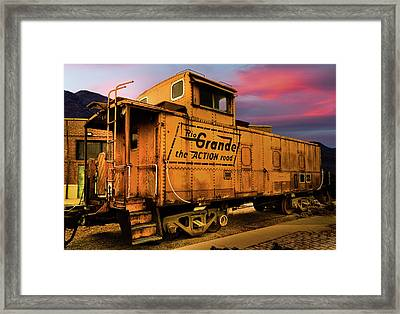 Sunset On The Rio Grande Framed Print