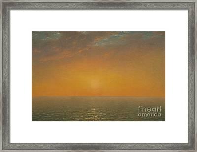 Sunset On The Sea, 1872 Framed Print