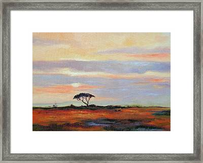 Sunset On The Serengheti Framed Print by Ginger Concepcion