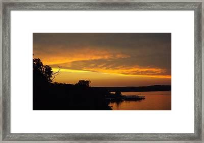 Sunset On The Shore  Framed Print