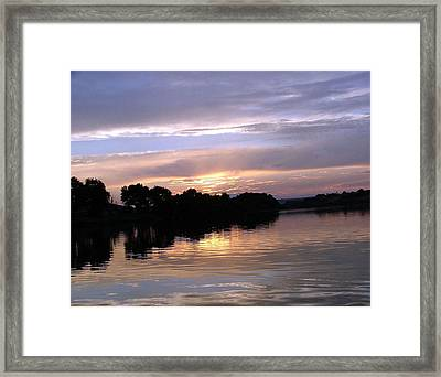 Sunset On The Snake Framed Print