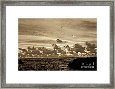 Framed Print featuring the photograph Sunset On The Tasman Sea by Yurix Sardinelly