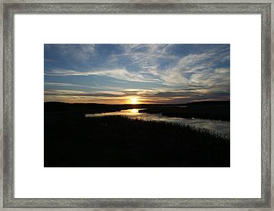 Sunset On The Totagatic Framed Print