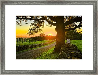Sunset On The Trails Framed Print by Bedford Shore Photography