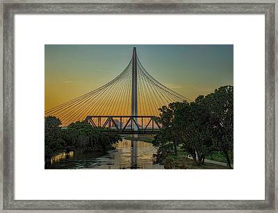 Sunset On The Trinity Framed Print by Diana Mary Sharpton