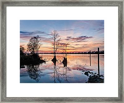 Sunset On The Waccamaw Framed Print