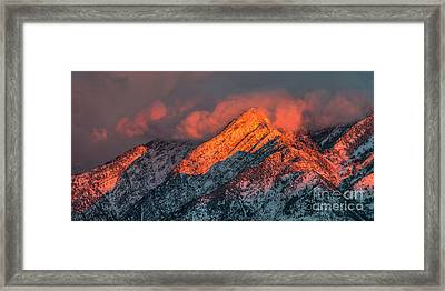 Framed Print featuring the photograph Sunset On The Wasatch by Spencer Baugh