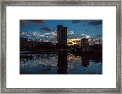 Sunset On The Water Framed Print