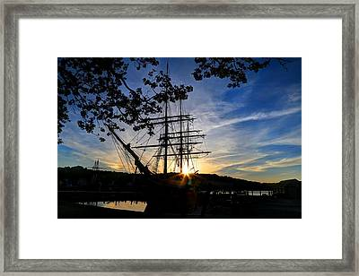 Sunset On The Whalers Framed Print