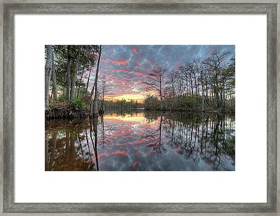 Sunset On The Yellow River Framed Print by JC Findley