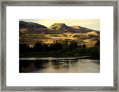 Sunset On The Yellowstone Framed Print by Marty Koch