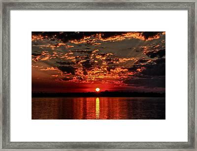 Sunset On The Zambezi Framed Print