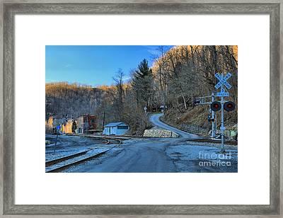 Sunset On Thurmond West Virginia Framed Print