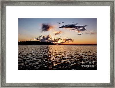 Sunset On Toldeo Bend Lake Framed Print by Scott Pellegrin