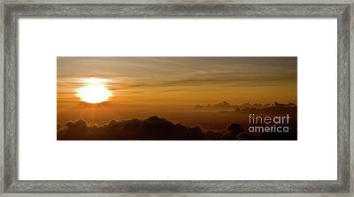 Sunset On Top Of Haleakala Framed Print by Denis Dore