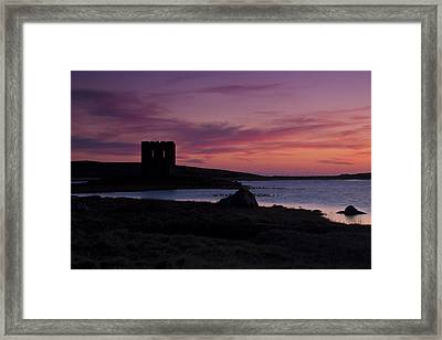 Sunset On Uist Framed Print by Gabor Pozsgai